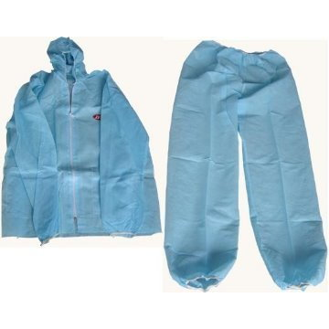參觀用紙衣XL(分身) - Coverall Two PCs type Blue(XL)產品圖